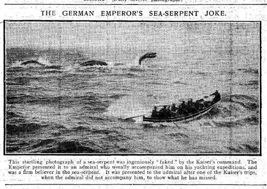 German emperor's sea serpent joke